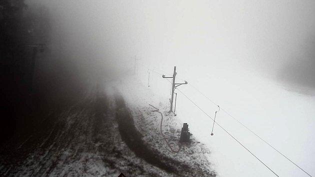 Snímek zwebkamery na sjezdovce vKladkách - 9.ledna 2020 12:47