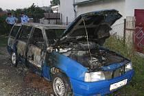 Ohořelý automobil