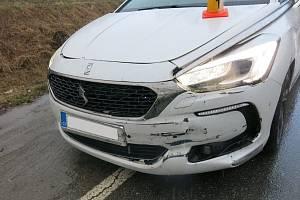 Nehoda DS5 na D46 u Brodku u Prostějova, 17.3.2021