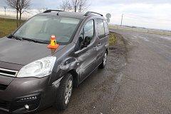 Následky dopravní nehody na D 46
