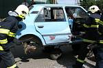 Dobrovolní hasiči v Malém Hradisku se předvedli lidem.