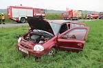Nehoda renaultu u Kaple