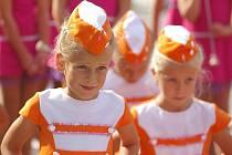 Mažoretky na soutěži v Němčicích nad Hanou