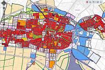Návrh územního plánu Města Prostějova - hlavní výkres rok 2011