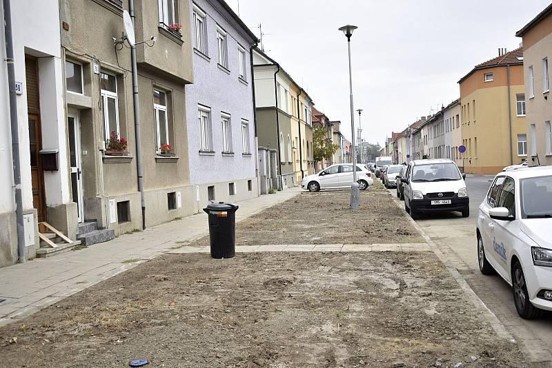 Místo vykácených lip budou v České ulici vysázeny hrušně. 29.9. 2021