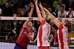 Prostějovské volejbalistky ve finále extraligy proti Olympu