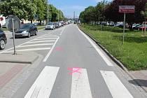 Cyklista vjel na Dolní ulici v Prostějově do protisměru.