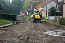 Rekonstrukce silnice v Soběsukách ve směru na Krumsín