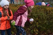 Hledání velikonočního pokladu mělo u dětí velký úspěch.