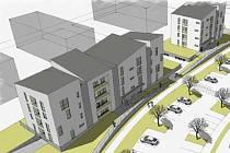 Vizualizace komunitních domů pro seniory v Holandské ulici v Prostějově