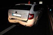 Následky nehody na D46