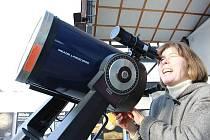 Zatmeni slunce na Lidové hvězdárně v Prostějově