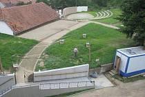 Amfiteátr v Otaslavicích je už hotový