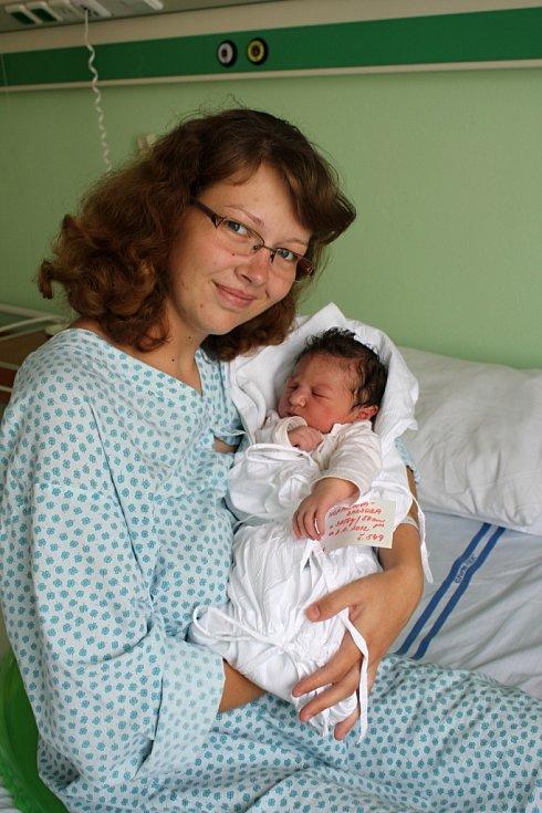 Barbora Hofmanová s maminkou Zuzanou, Přemyslovice, narozena 2. srpna, 50 cm, 3850 g