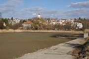 Vypuštěný rybník Bidelec v Plumlově - 19. 3. 2019
