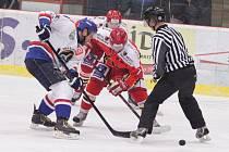 Prostějovští hokejisté se nakonec pěkně potrápili s předposledním týmem soutěže. Orlová sice prohrávala o tři branky, ale dokázala srovnat na 4:4. Výhru zajistil až Frank Kučera.