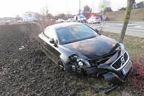 Nehoda volva v Prostějově - 27. 2. 2021