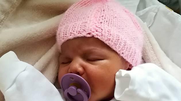 Amálie Barkoci, Hvozd, narozena 25. prosince 2019 v Olomouci, míra 51 cm, váha 3430 g