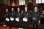 Ocenění nejlepších prostějovských policistů roku 2019 v obřadní síni radnice - 23.1. 2020