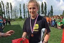 Karolína Kyselá je již trojnásobnou vítězkou okresního kola hry Plamen.