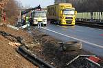 Nehoda kamionu s panely na D46 u Žešova