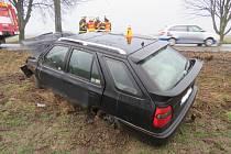 Nehoda mezi Držovicemi a Olšany u Prostějova