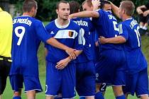 Radost fotbalistů FK Prostějov