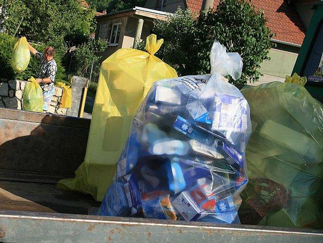 Netradiční sběr a třídění odpadu. Ilustrační foto