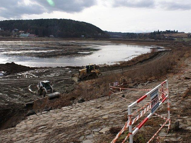 Revitalizace plumlovské přehrady - únor 2013