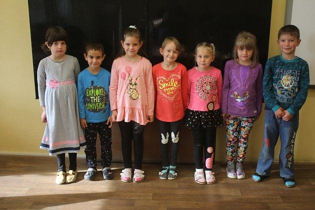 Žáci 1.třídy ze ZŠ Drahany