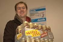 Jiří Gorec se svou pivní výhrou