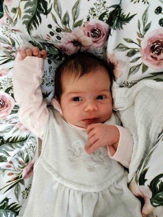 Anežka Šantová, Týn nad Bečvou, narozena 27. prosince 2020 v Přerově, míra 48 cm, váha 3380 g
