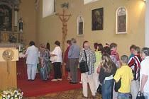Výročí znovuotevření chrámu si připoměli v neděli věřící v kostele sv. Cyrila a Metoděje v Brněnské ulici v Prostějově