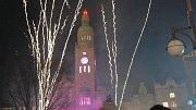 Tradiční silvestrovský ohňostroj na náměstí TGM v Prostějově