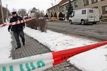 Policejní manévry po přepadení obrněného vozu s penězi v Přemyslovicích