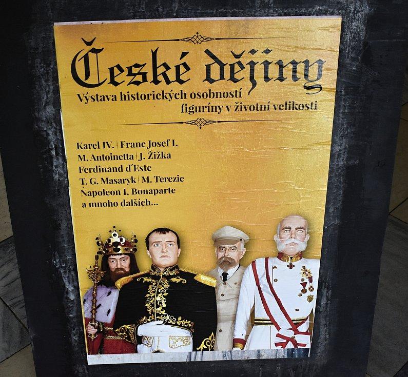 V Prostějově byla otevřena výstava České dějiny s figurínami význačných osobností naší i evropské historie. 21.5. 2020