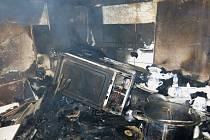 Požár rodinného domku v Přemyslovicích