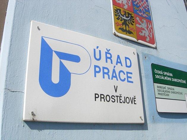Úřad práce v Prostějově.