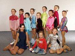 Mladé prostějovské krasobruslařky