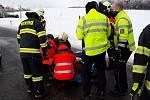 Vážná nehoda u Drahan 12. 02. 2021