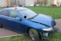 Nehoda v ulici Josefa Lady v Prostějově