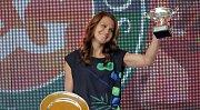 Lucie Šafářová po triumfu na Frech Open přijela do Prostějova, kde s tenisem začínala