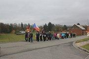 Sázení lípy svobody v Tištíně
