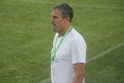 Fotbalisté Prostějova (v modrém) oslavili postup do druhé ligy výhrou 4:2 nad HFK Olomouc.