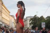Na náměstí T.G. Masaryka v Prostějově proběhla módní přehlídka místních firem.