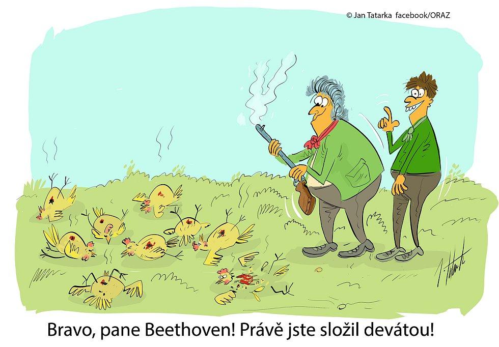 Kreslíř Jan Tatarka z Mostkovic získal třetí místo na prestižním Mezinárodním festivalu kresleného humoru ve Františkových lázních - oceněný vtip