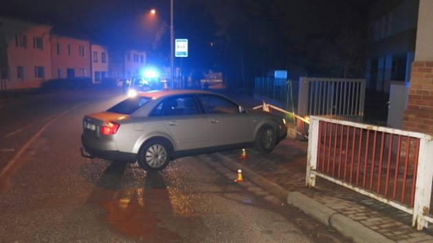 Nehoda audi ve Vrahovicích - 24. 2. 2021