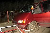 Nehoda dodávky na Vápenici v Prostějově