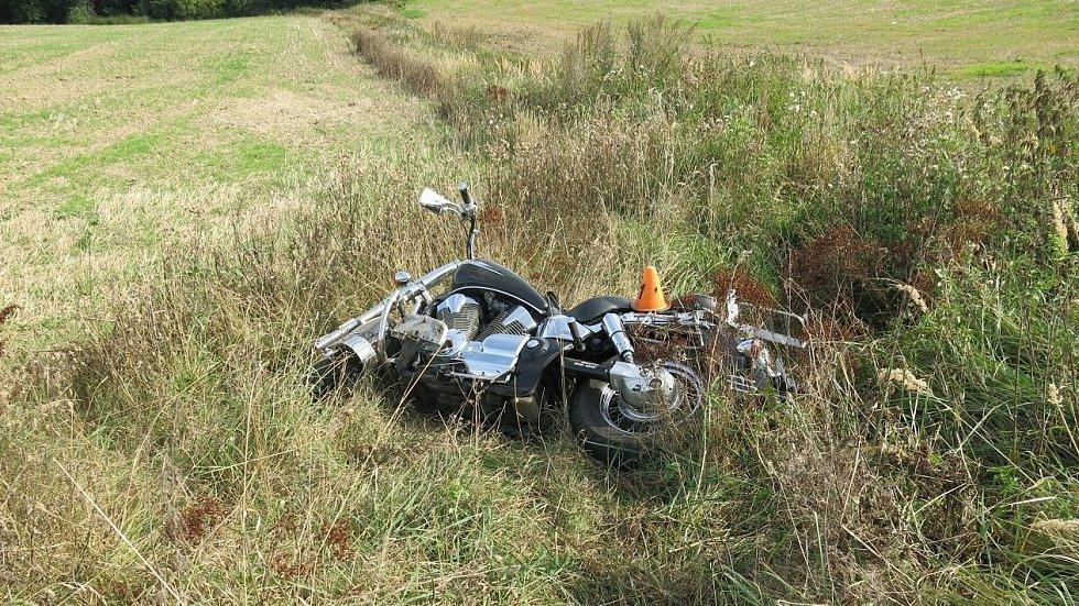 Nehoda motorkáře u Rozstání, 19. září 2020