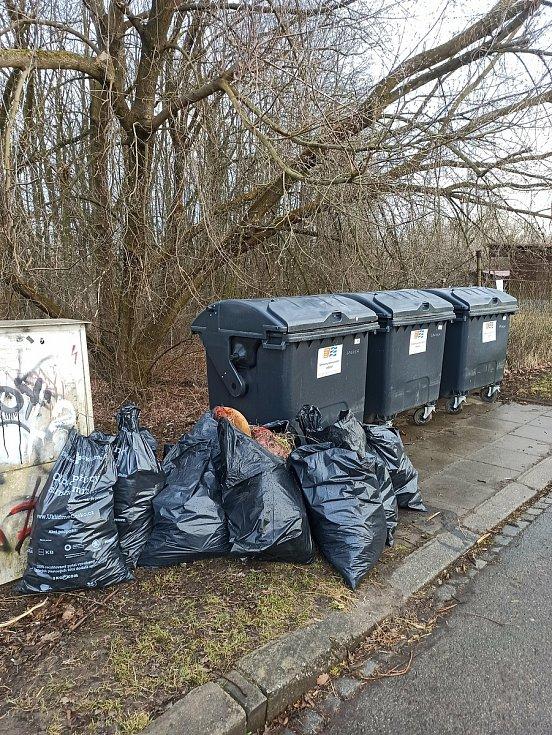 Do úklidu se pustili o víkendu i dobrovolníci v Přerově, kteří posbírali odpadky v okolí malé Laguny.